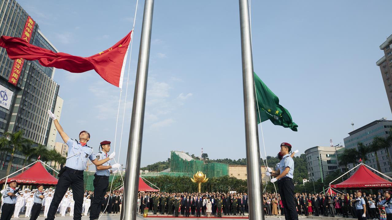 Macao celebrates National Day with flag-raising ceremony