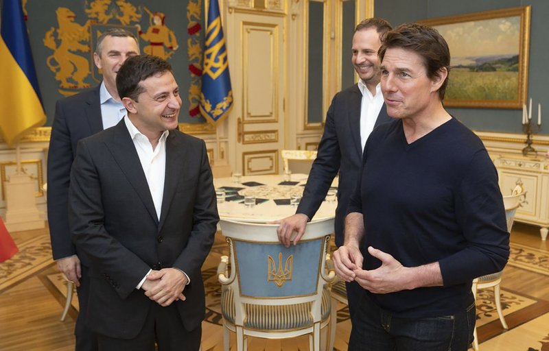 'You're good-looking': Ukraine's leader woos Tom Cruise today