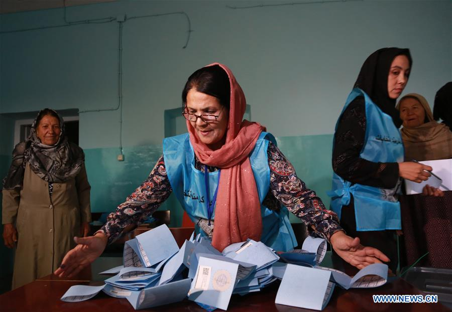 Tally continues in Afghan presidential election