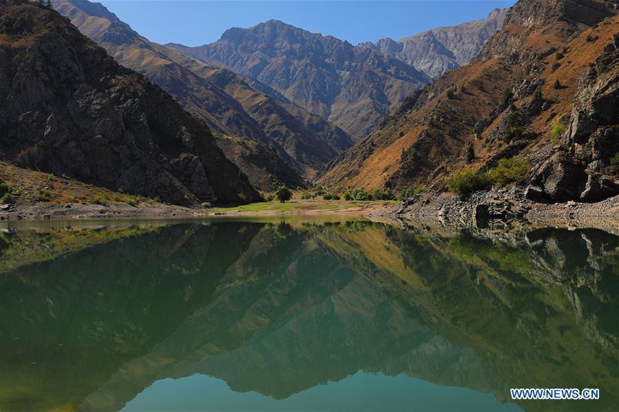 Scenery of Urungach Lake in Uzbekistan