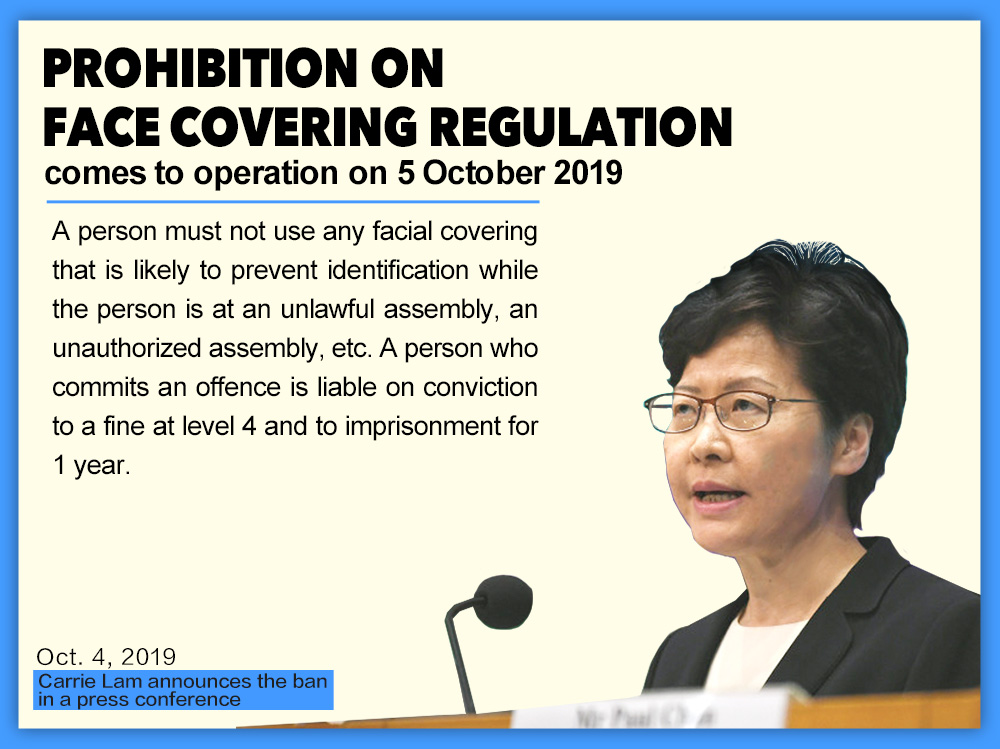 Hong Kong adopts anti-mask law to quell violence