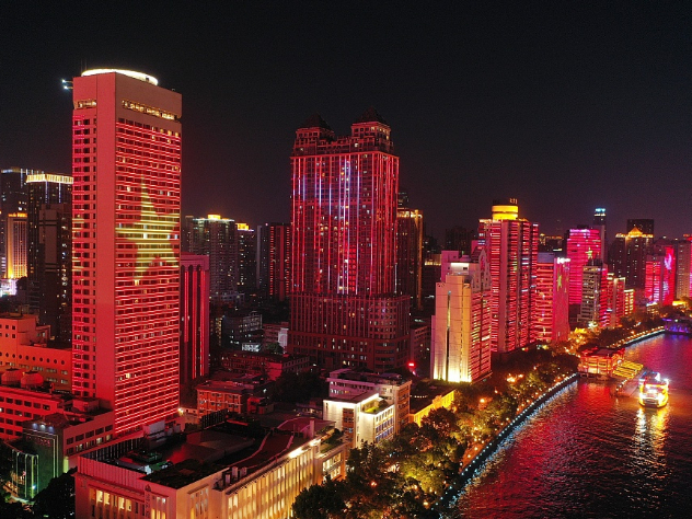Chinese cities light up for National Day