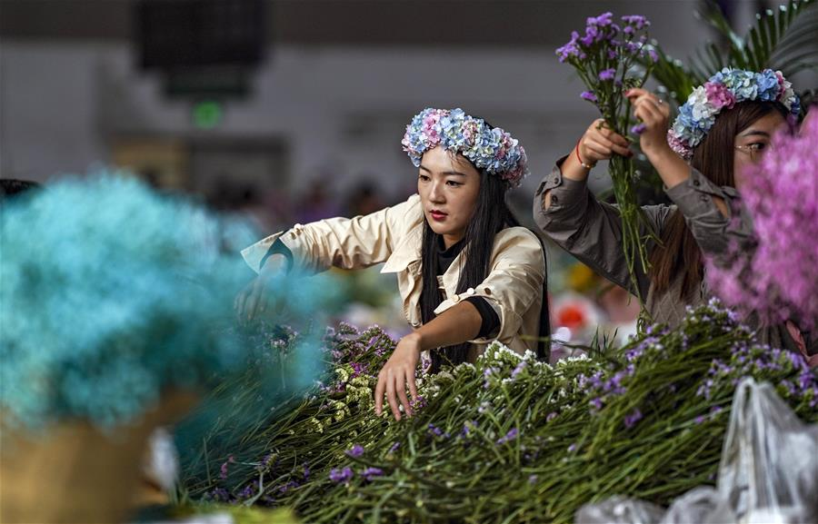 Business at Yunnan's flower market booming