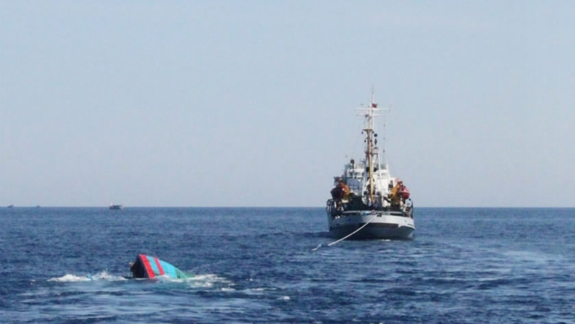 DPRK fishing boat half-submerged after collision in Sea of Japan: Japan Coast Guard
