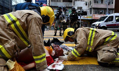HK rioters inflict brutal assault on commoners
