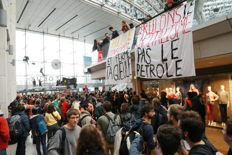 Climate activists occupy Paris mall as global Extinction Rebellion protests begin