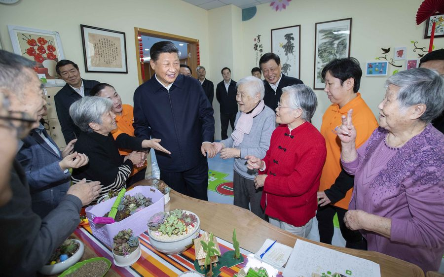 Moments between Xi and senior citizens
