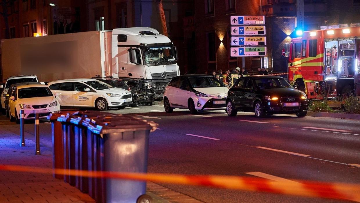 Stolen truck slams into cars in Germany, several injured