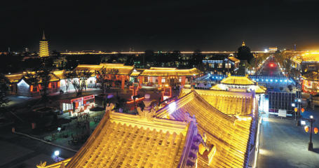 Ancient town alive with thousands of lanterns