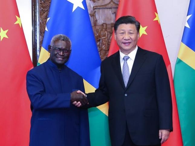 President Xi meets Solomon Islands' PM, praises diplomatic recognition