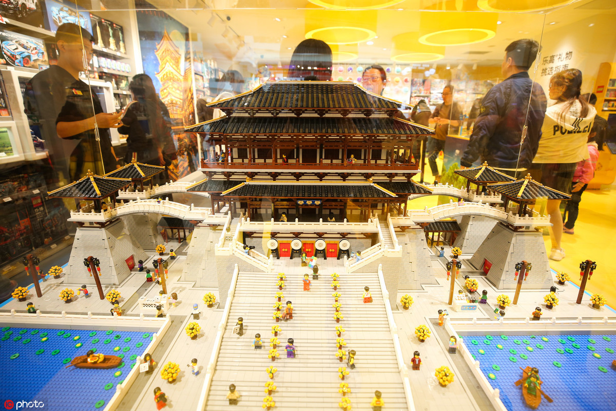 Legos re-create ancient Chinese building in Xi'an