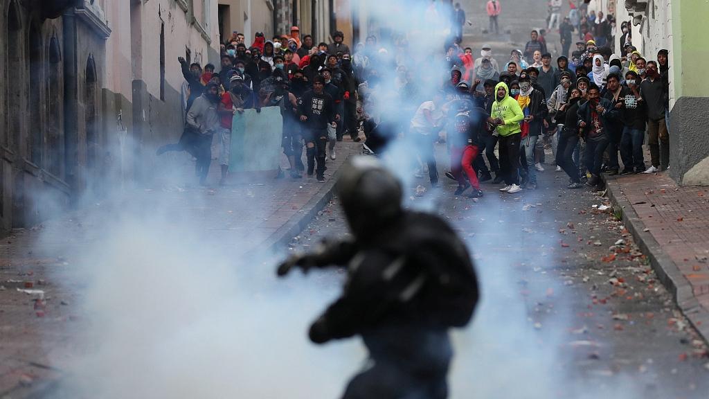 Ecuador's Moreno imposes curfew, protesters storm National Assembly