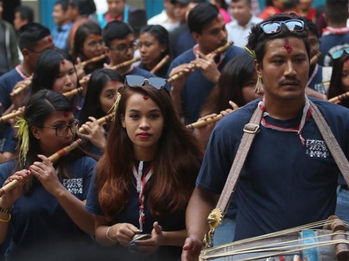 Dashain Festival celebrated in Kathmandu, Nepal