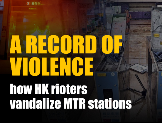 A record of violence: how HK rioters vandalize MTR stations