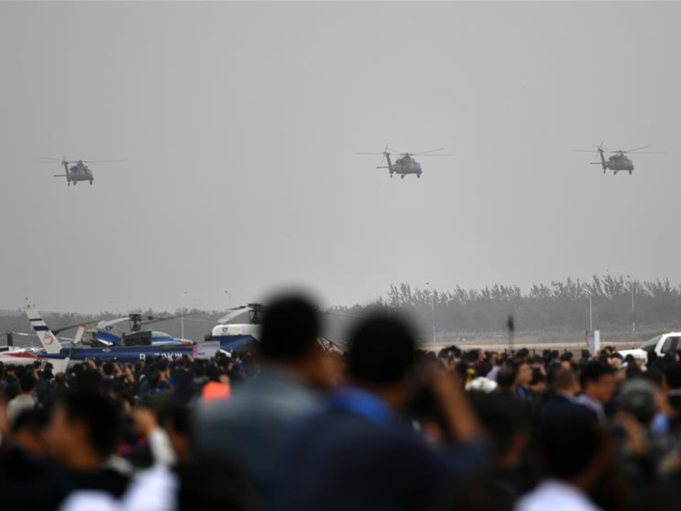 China's Z-20 helicopters make demonstration flight in Tianjin