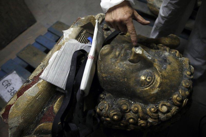 Broken angels: Inside the lab working to restore Notre Dame