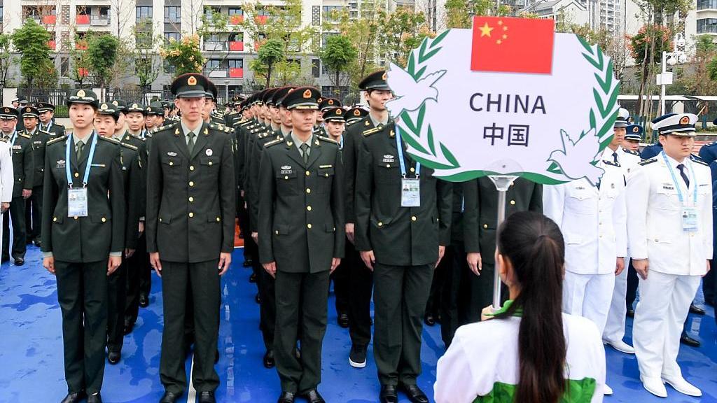 Military World Games athletes' village holds flag-raising ceremony