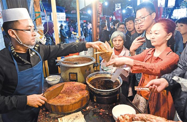 The takeout food leads the night economy in Xi'an.png