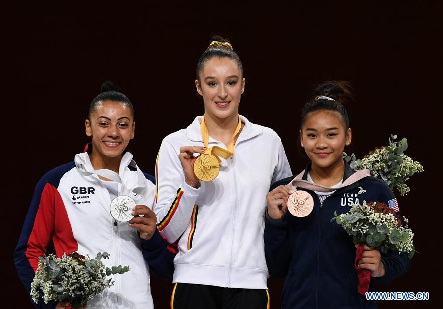 In pics: Women's Uneven Bars Final of 2019 FIG Artistic Gymnastics World Championships