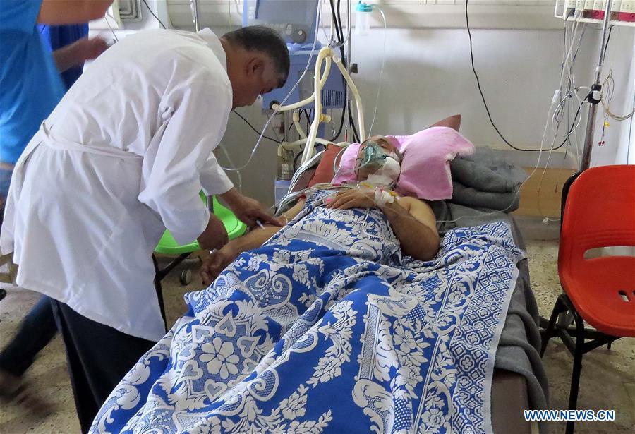 Aftermath of Turkish shelling in Qamishli, Syria