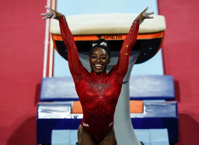 Biles on verge of history after record-equalling 23rd world medal