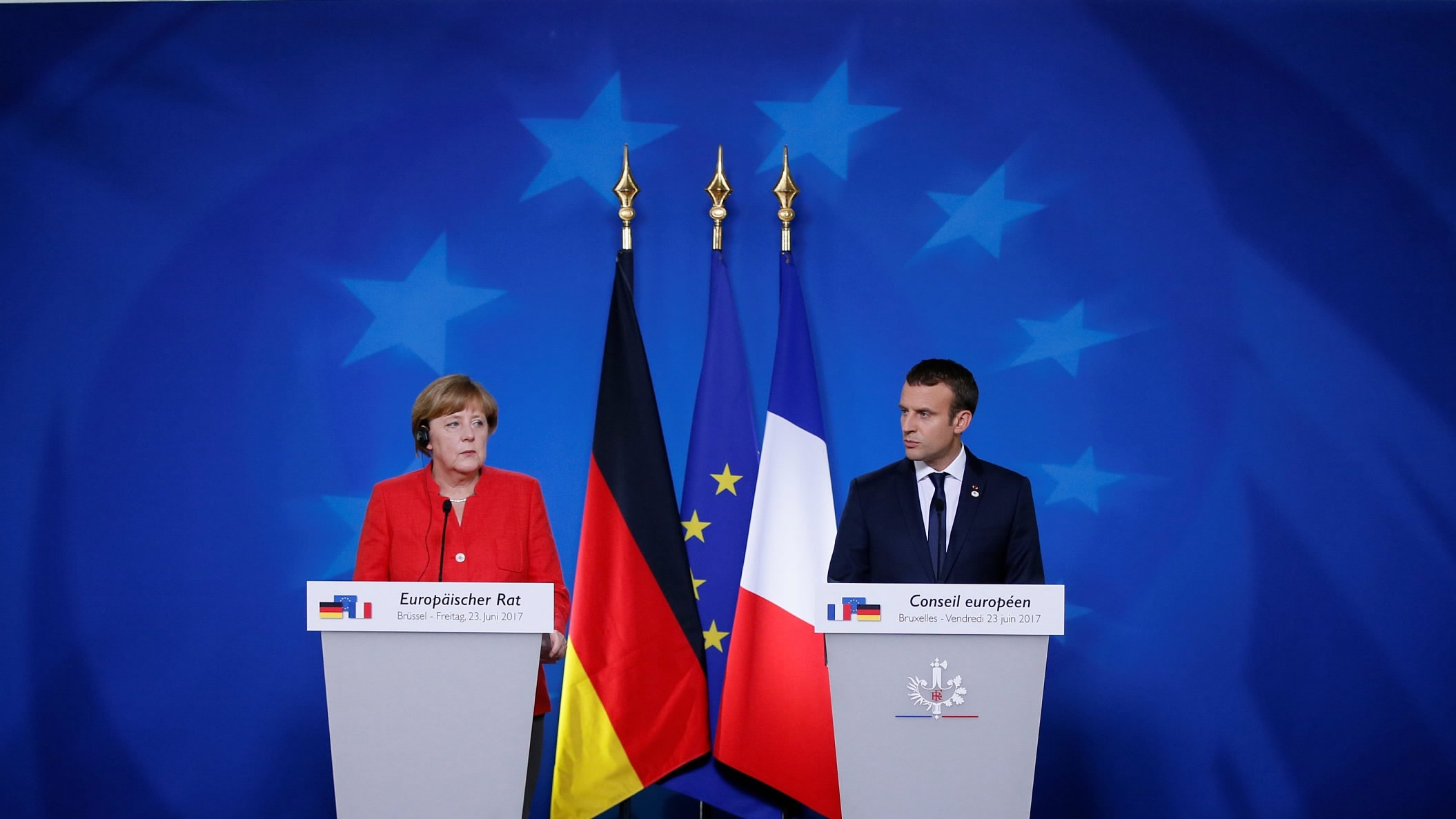 Macron, Merkel call for end to Turkish offensive in north Syria