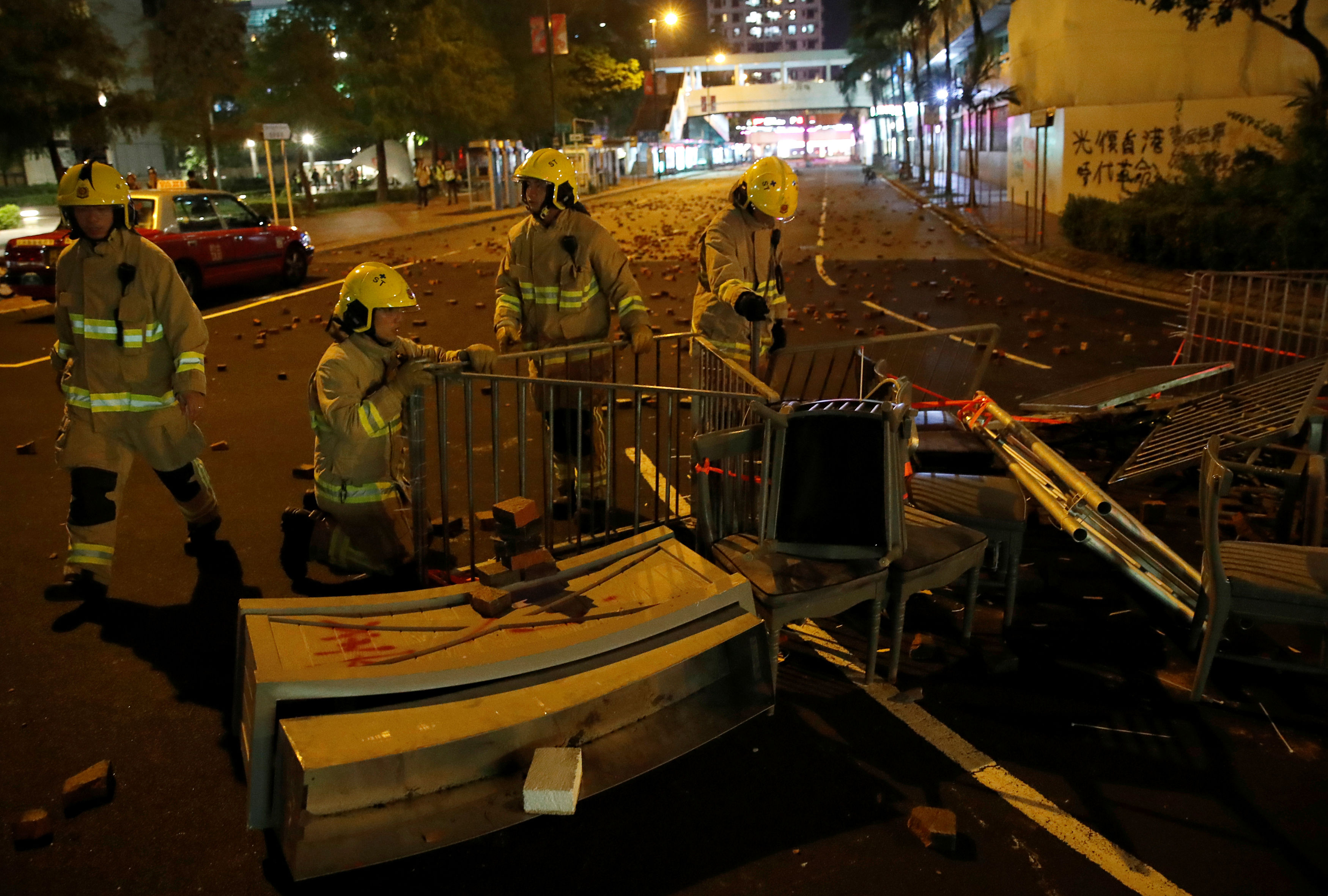 Homemade bomb appears for first time in Hong Kong violence