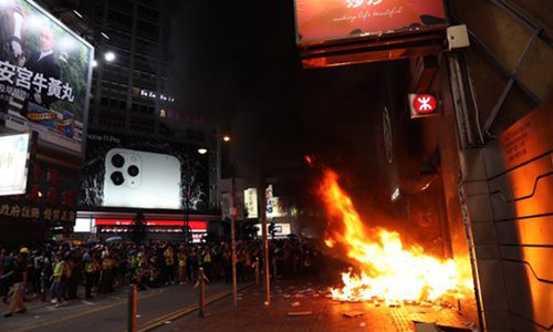 HK rioters use terror-like phone-powered IED targeting police