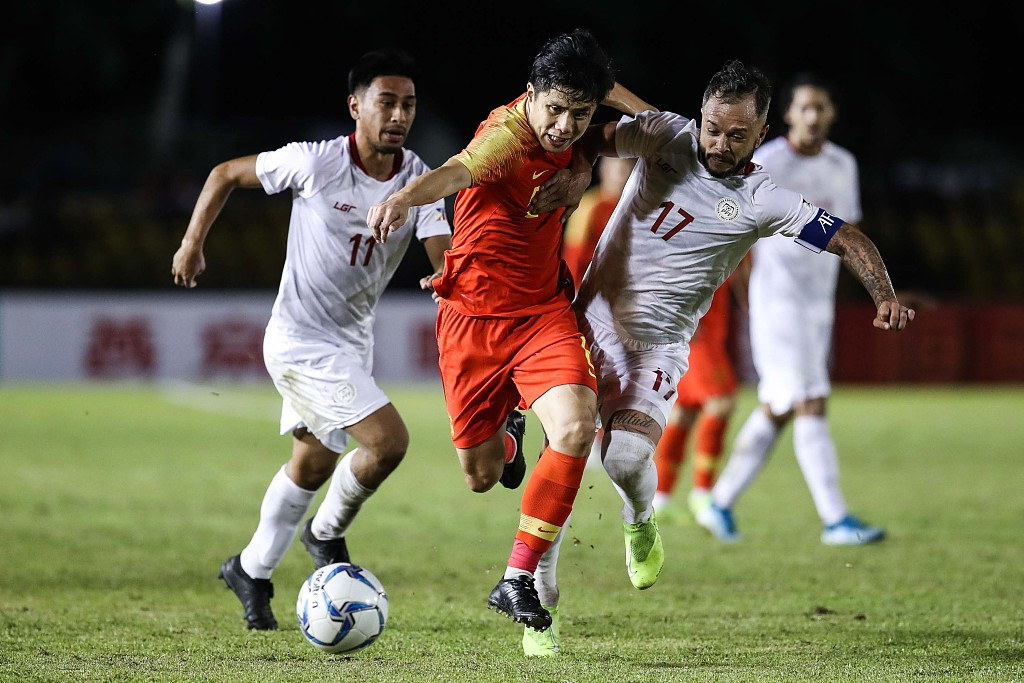 Philippines 0 China 0 - World Cup Asian qualifier
