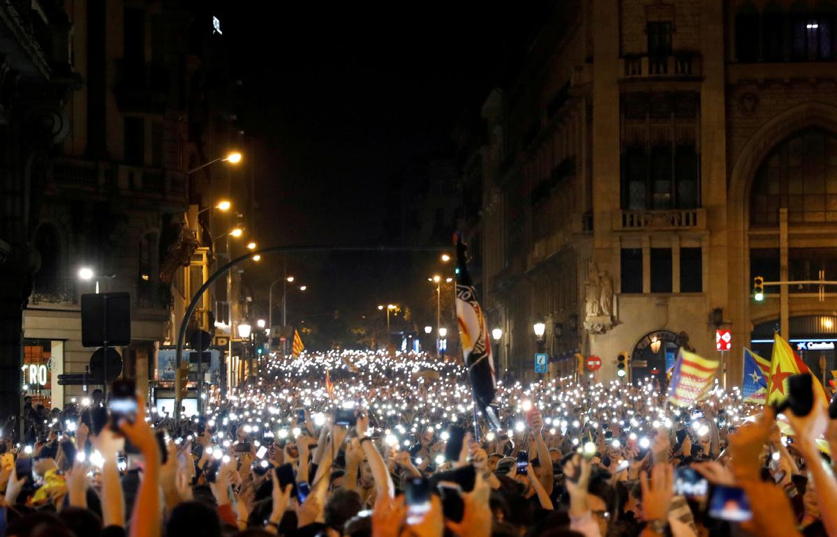 Protests erupt in Barcelona, 108 flights cancelled