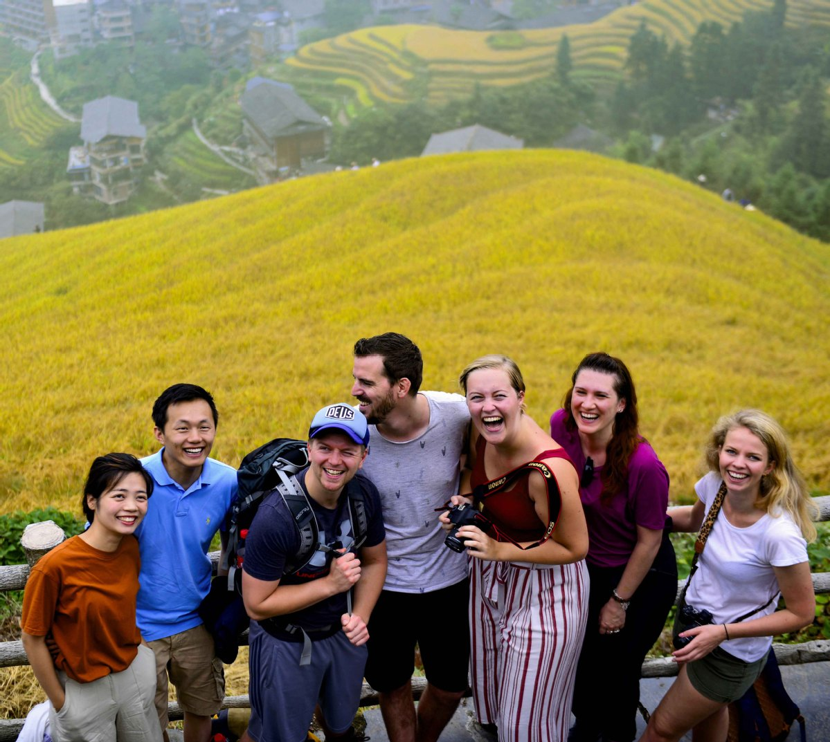 South China's golden rice paddies attract tourists