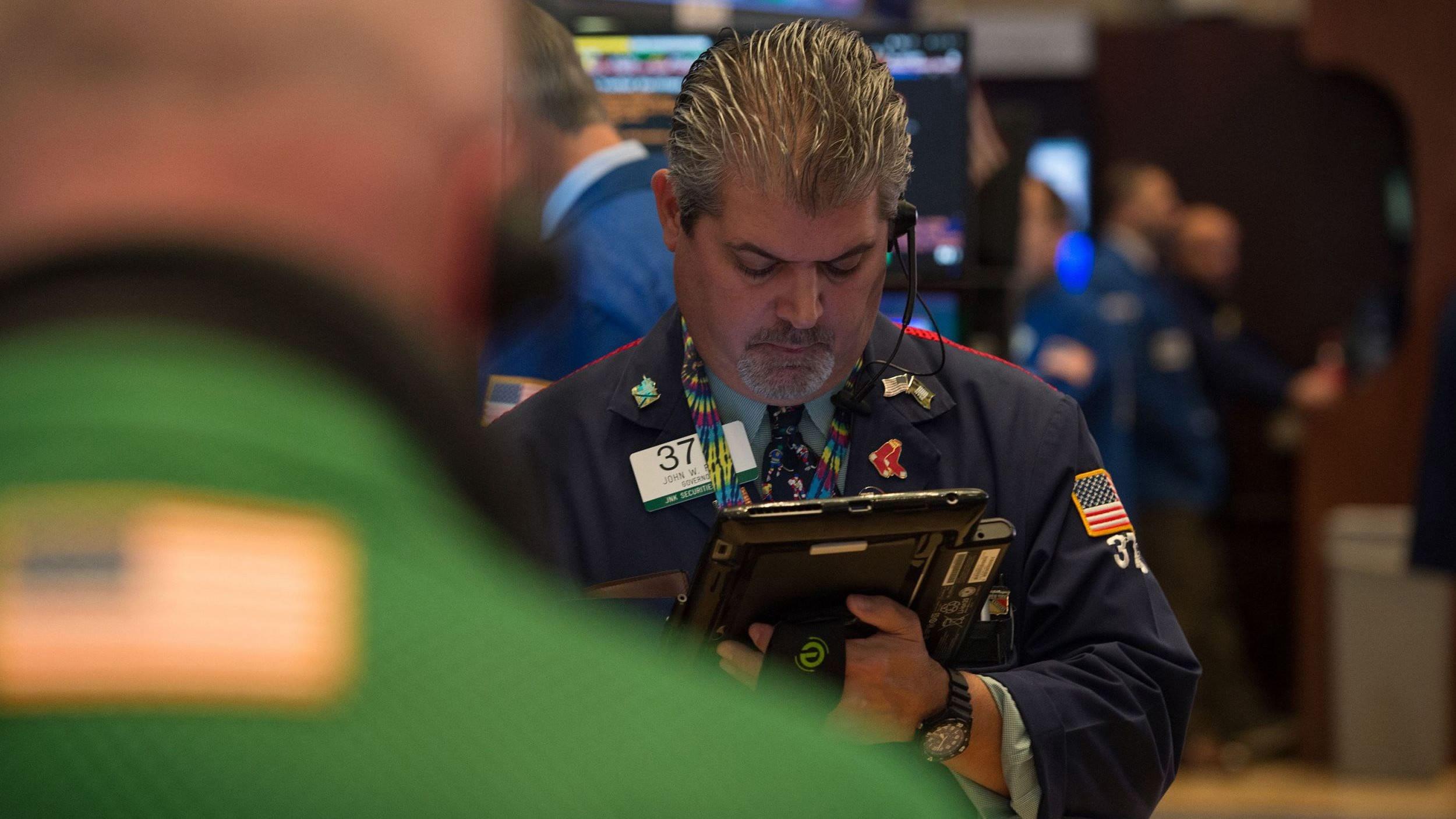 US stocks open lower amid weak retail sales