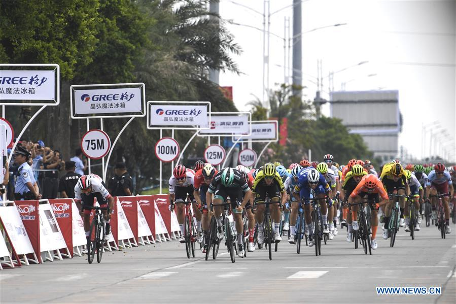 Highlights of stage one at 2019 UCI World Tour/Tour of Guangxi