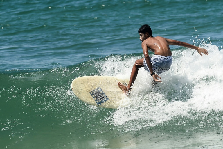 Far out: Myanmar's first surfing team to take off at SEAsia games
