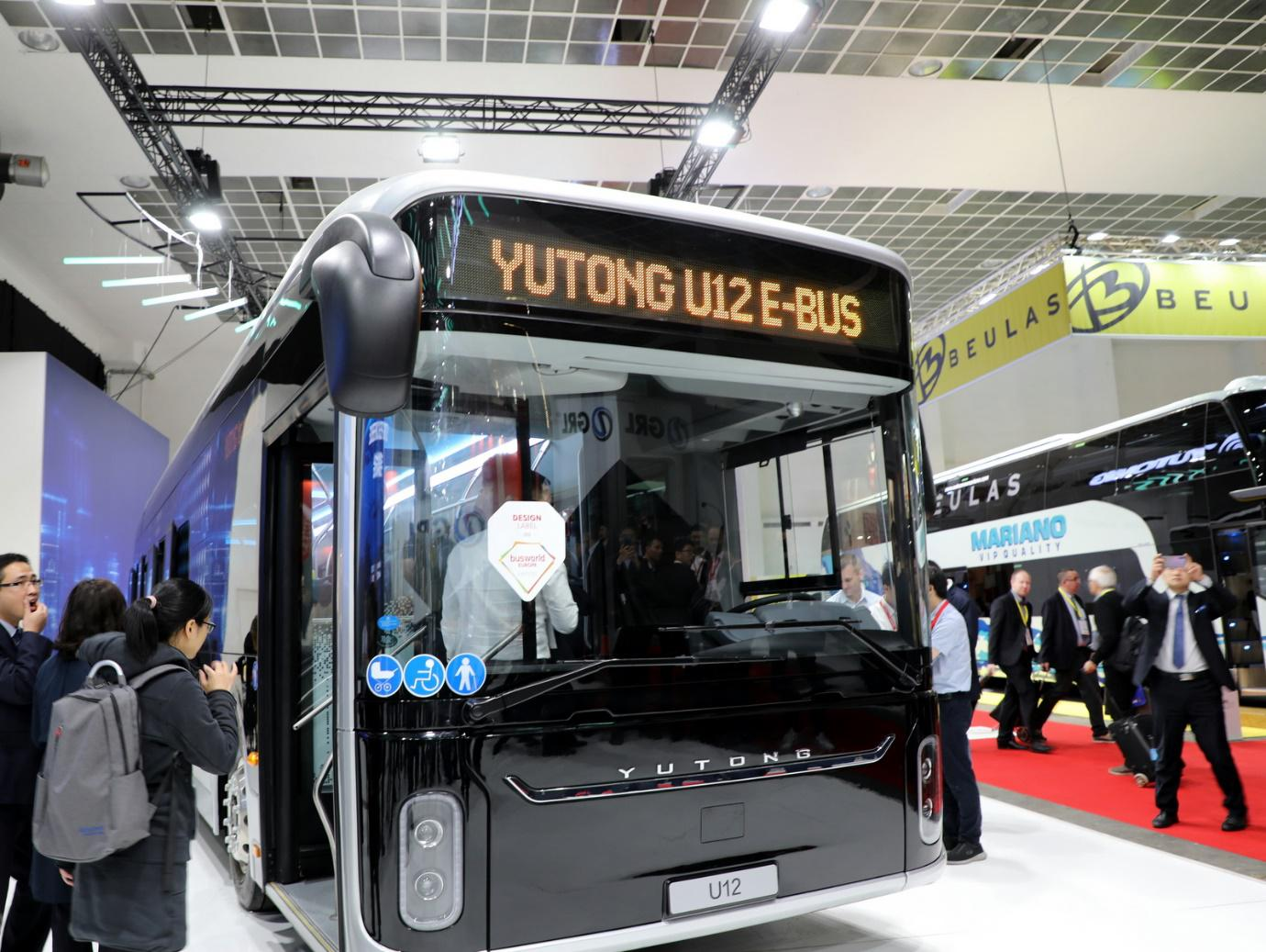 Chinese Bus Maker Yutong Wins 3 Busworld Awards in Brussels