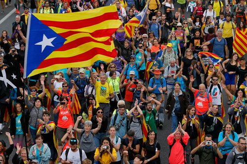 Catalan protest coverage shows Western media bias