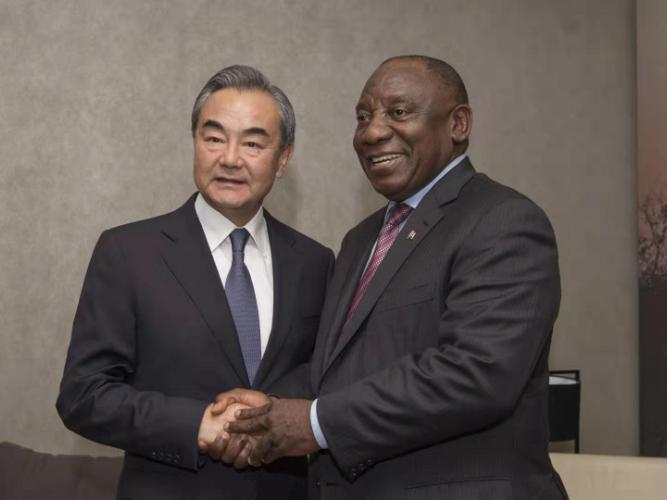 South African President Cyril Ramaphosa meets Wang Yi