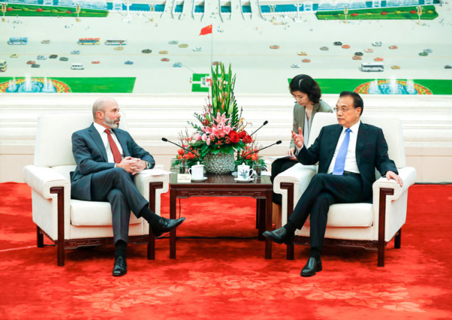Premier Li calls for healthy and stable China-US relations