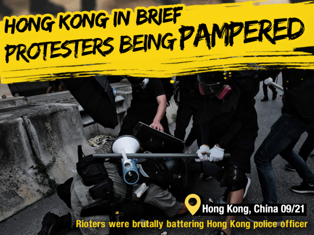Poster: How Hong Kong protesters are being pampered