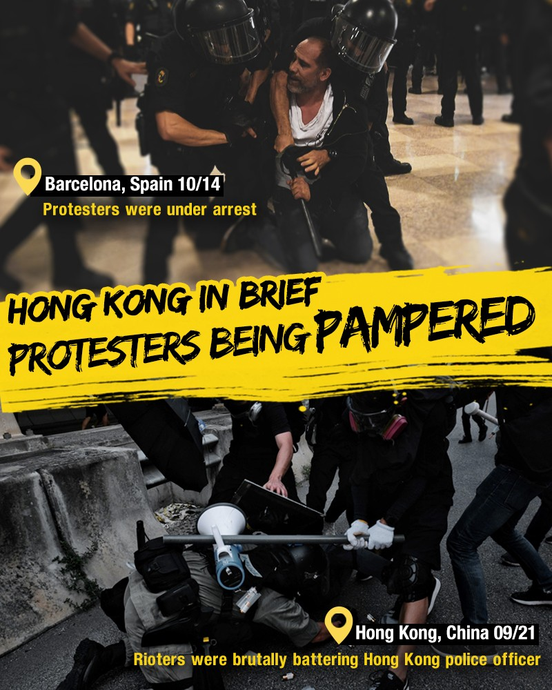 Q101939-海报- Hong Kong In Brief Here's how Hong Kong protesters are being pampered-英文.jpg