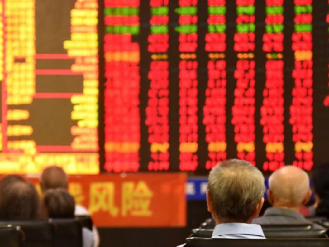 Chinese shares end mixed at midday Monday