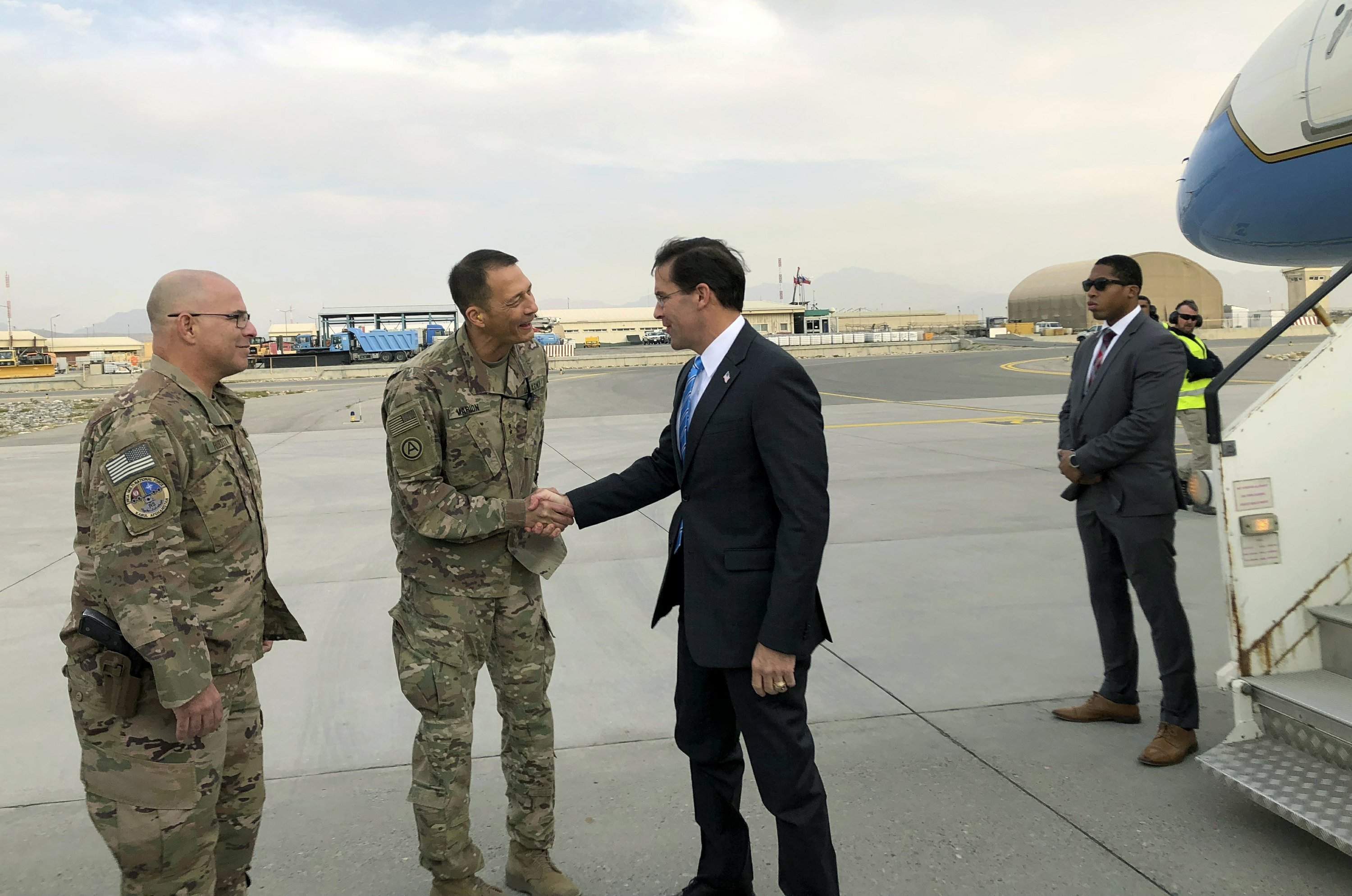EU calls for Afghan ceasefire as Esper makes surprise visit to Kabul