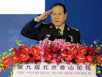 Defense chief reiterates China's defensive military strategy
