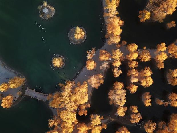 Autumn scenery in Jiuquan, northwest China's Gansu