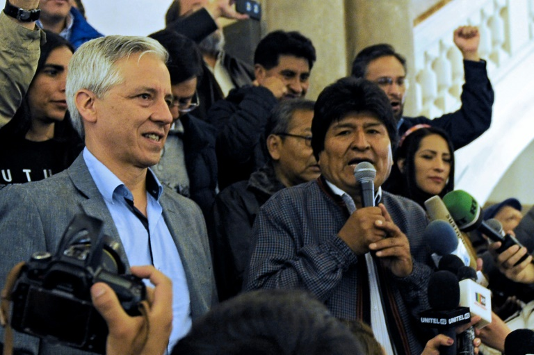 Morales narrowly wins first round in Bolivia election, faces run-off