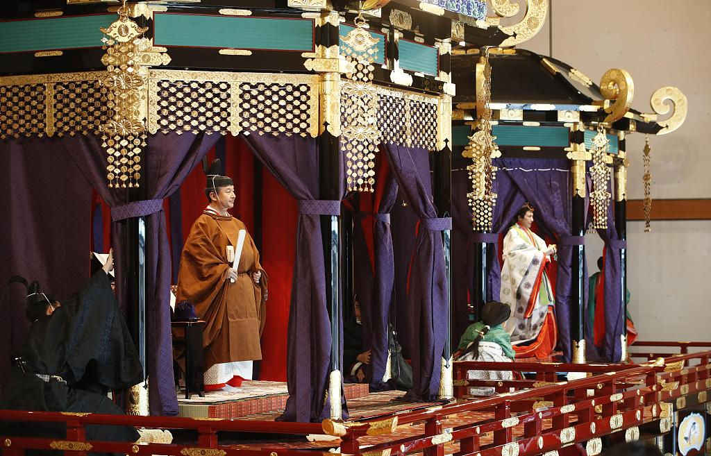 Japan emperor completes enthronement in ritual-bound ceremony