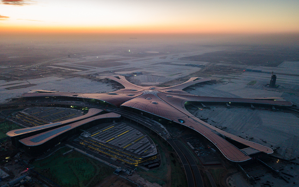 Beijing Daxing Int'l Airport prepares for 280 daily flights