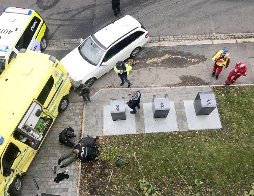 Oslo police shoot to stop man driving on sidewalk, 3 injured