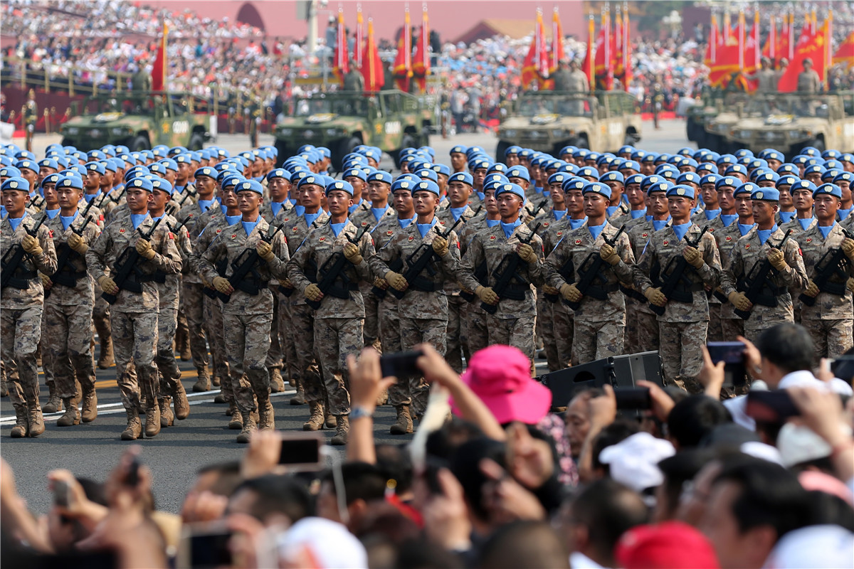 China wins global applause for efforts in world peacekeeping