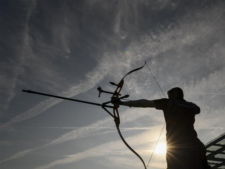 Athletes prepare for coming competitions of archery at 7th CISM Military World Games